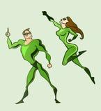 супергерои Стоковое Изображение