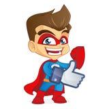 Супергерой дает подобия Стоковые Фотографии RF