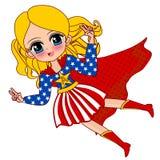 Супергерой Америки иллюстрация штока