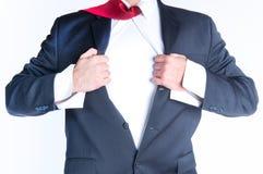 Супергерой бизнесмена Стоковые Изображения