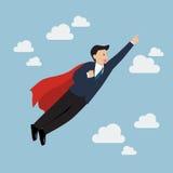 Супергерой бизнесмена Стоковая Фотография