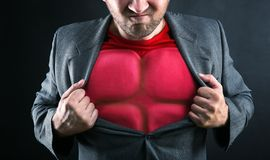 Супергерой внутрь Стоковые Фотографии RF