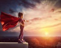 Супергерой детских игр стоковая фотография rf