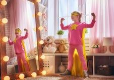Супергерой детских игр Стоковое Фото