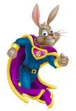Супергерой зайчика пасхи иллюстрация вектора