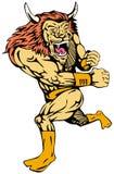 супергерой льва иллюстрация вектора