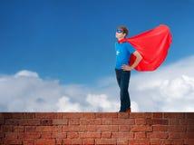 Супергерой мальчика Стоковое Изображение