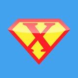 Супергерой логотипа Стоковые Изображения