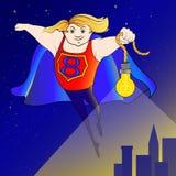 Супергерой освещает путь Стоковая Фотография RF