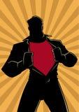 Супергерой под силуэтом света Рэй крышки случайным иллюстрация вектора