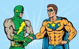супергерой рукопожатия иллюстрация штока