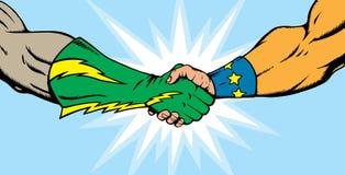 супергерой рукопожатия бесплатная иллюстрация