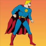 Супергерой стиля комика Стоковые Изображения