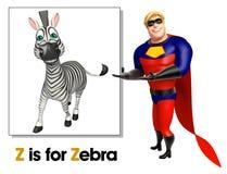 Супергерой указывая зебра бесплатная иллюстрация