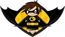 Супергерой шаржа героикоромантический Стоковые Изображения