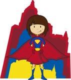 Супергерой шаржа Стоковые Изображения RF