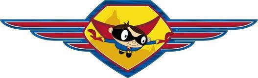 Супергерой шаржа Стоковое Изображение
