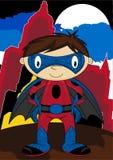 Супергерой шаржа Стоковое Фото