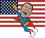 супергерой obama barack Стоковые Фотографии RF
