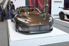 Суперкар Spyker на автосалоне International Нью-Йорка jpg Стоковые Фото