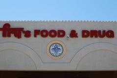 Супермаркет еды & лекарства фрая Стоковое фото RF