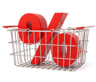 супермаркет клиентов ходя по магазинам Стоковые Изображения RF
