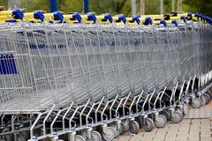 супермаркет тележки Стоковое Изображение RF