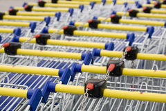 супермаркет тележки Стоковое фото RF