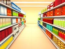 супермаркет Стоковая Фотография