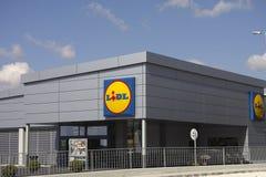 Супермаркет Lidl Стоковая Фотография
