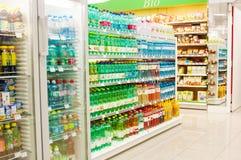 Супермаркет Merkur в вене, Австрии Это самая большая сеть супермаркетов в Австрии Стоковая Фотография