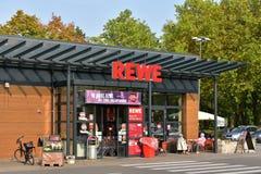 Супермаркет REWE Стоковая Фотография