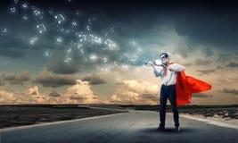 Супермен с скрипкой Стоковое фото RF