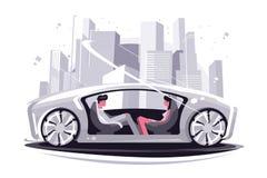 Супер автомобиль будущего иллюстрация вектора