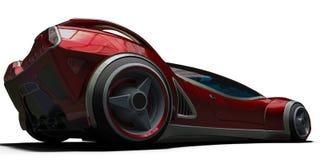 Супер автомобиль от будущего отсутствие бренда в белой предпосылке иллюстрация вектора