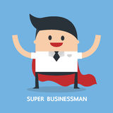 Супер бизнесмен, плоский дизайн, значок Стоковое Фото