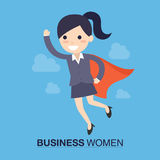 Супер бизнес-леди Стоковые Фото