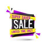 Супер бирка или знамя продажи вкладчика Стоковые Изображения RF