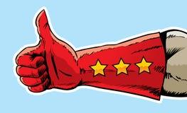 супер большие пальцы руки вверх Стоковое Изображение