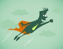 Супер герой - бизнесмен иллюстрация штока