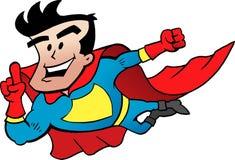 Супер герой летая Стоковые Изображения