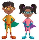Супер дети индийские иллюстрация вектора