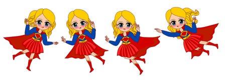 Супер девушка на характере бесплатная иллюстрация
