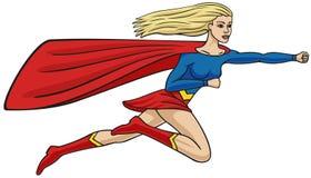 Супер девушка. иллюстрация вектора