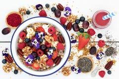Супер еда для здорового завтрака стоковые фотографии rf