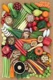 Супер еда для здоровой еды стоковая фотография rf