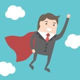 Супер летание бизнесмена иллюстрация вектора