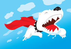Супер летание собаки с накидкой Стоковое фото RF