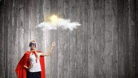 Супер женщина Стоковая Фотография RF