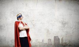 Супер женщина Стоковые Фотографии RF